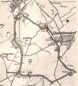 1988-2002 Länge: 6,791-6,8165 km ab 1991 wurden zwei Schikanen vor der Ortsdurchfahrt Oberböhmsdorf und am