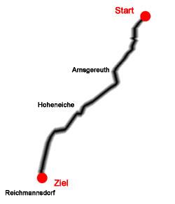 1927 Länge: 11 km Saalfeld-Arnsgereuth-Hoheneiche-Reichmannsdorf 5 km + 6 km Flachstrecke