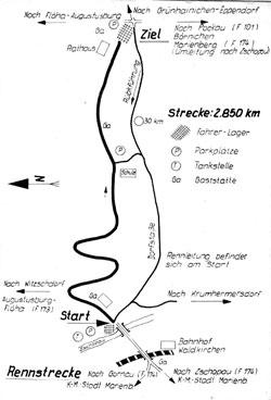 1962-1964 Länge: 2,700-2,863 km Bergrennen