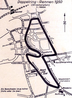 1950 Länge: 4,105 km Doppelringrennen