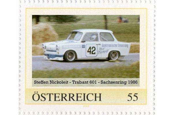 Briefmarke - Rennfahrzeuge des DDR-Motorsports - Trabant