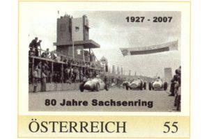 Briefmarke - 80 Jahre Sachsenring