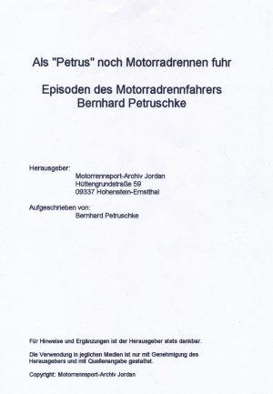 Als Petrus noch Motorradrennen fuhr