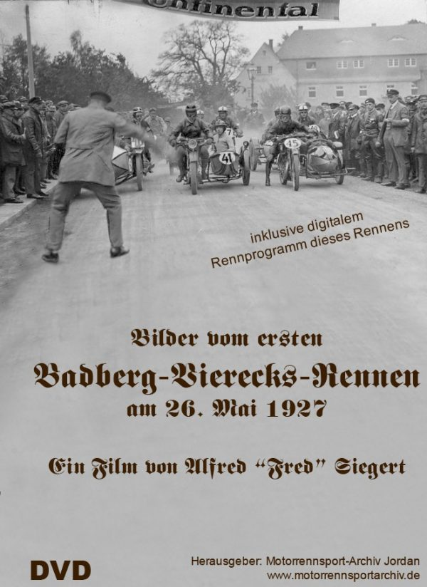 Bilder vom ersten Badberg-Vierecks-Rennen 1927