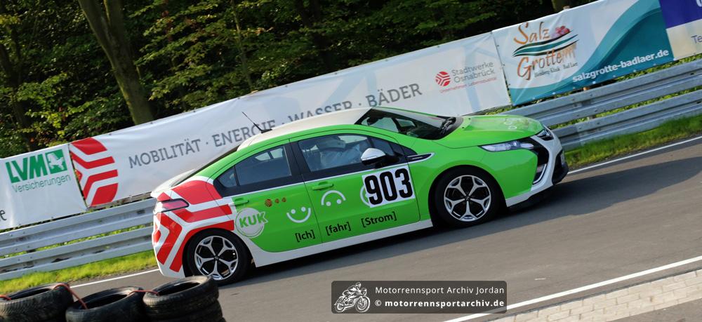 Der E-Mobil-Berg-Cup wurde 2014 schon zum zweiten Mal im Rahmen des Osnabrücker Bergrennens ausgetragen. / The E-mobile-Hillclimb-Cup was run at the Osnabrück Hillclimb for the second time in 2014.