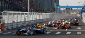 Start zum ersten Rennen in der Geschichte der Formel E in Peking / Start of the inaugural race of Formula E at Beijing