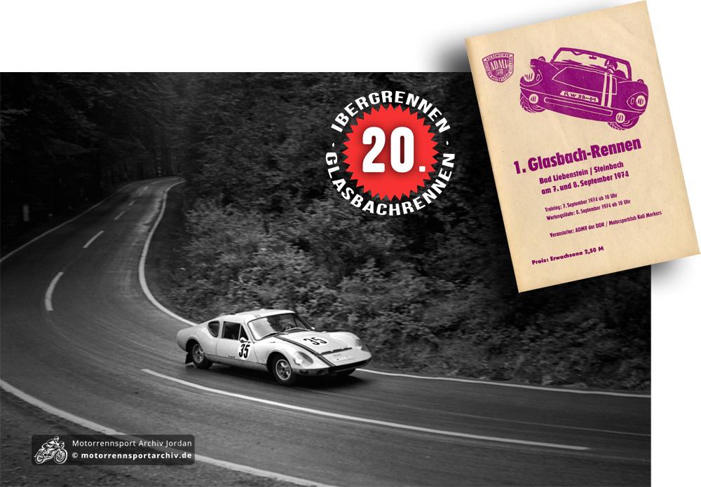 Zum 1. Glasbachrennen kamen 6000 Zuschauer. Hans Scharfe gewann auf seinem Melkus RS 1000 die Klasse der Rennsportwagen bis 1150ccm. (Foto: Menger)