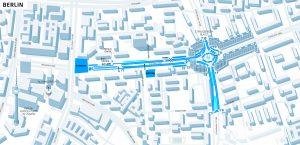 Die Straßenkurs für den Berlin ePrix 2016