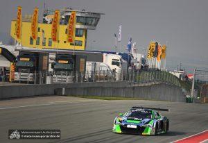 Philip Geipel ließ den Audi R8 am Sonntag um den Sachsenring fliegen