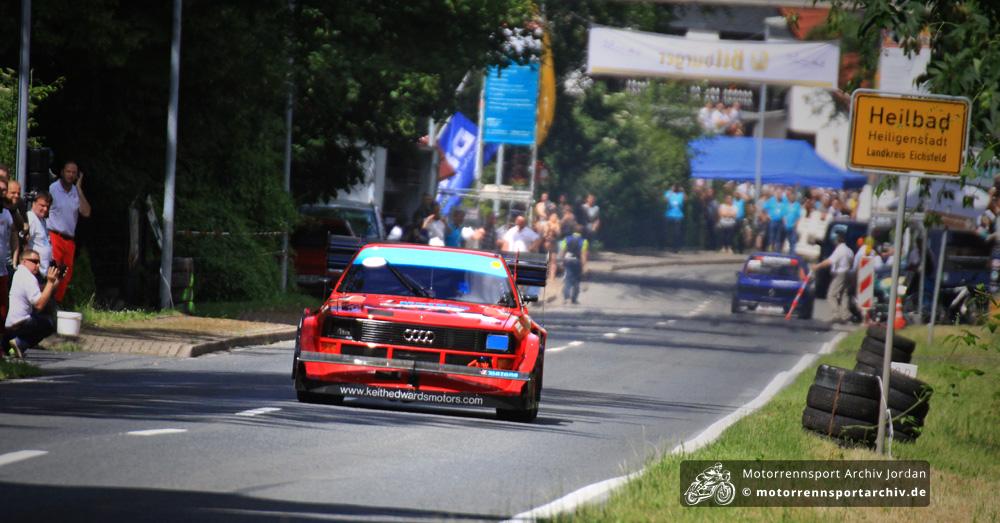 Gast von der Insel: Keith Edwards jagt seinen Audi S1 auf den Berg.